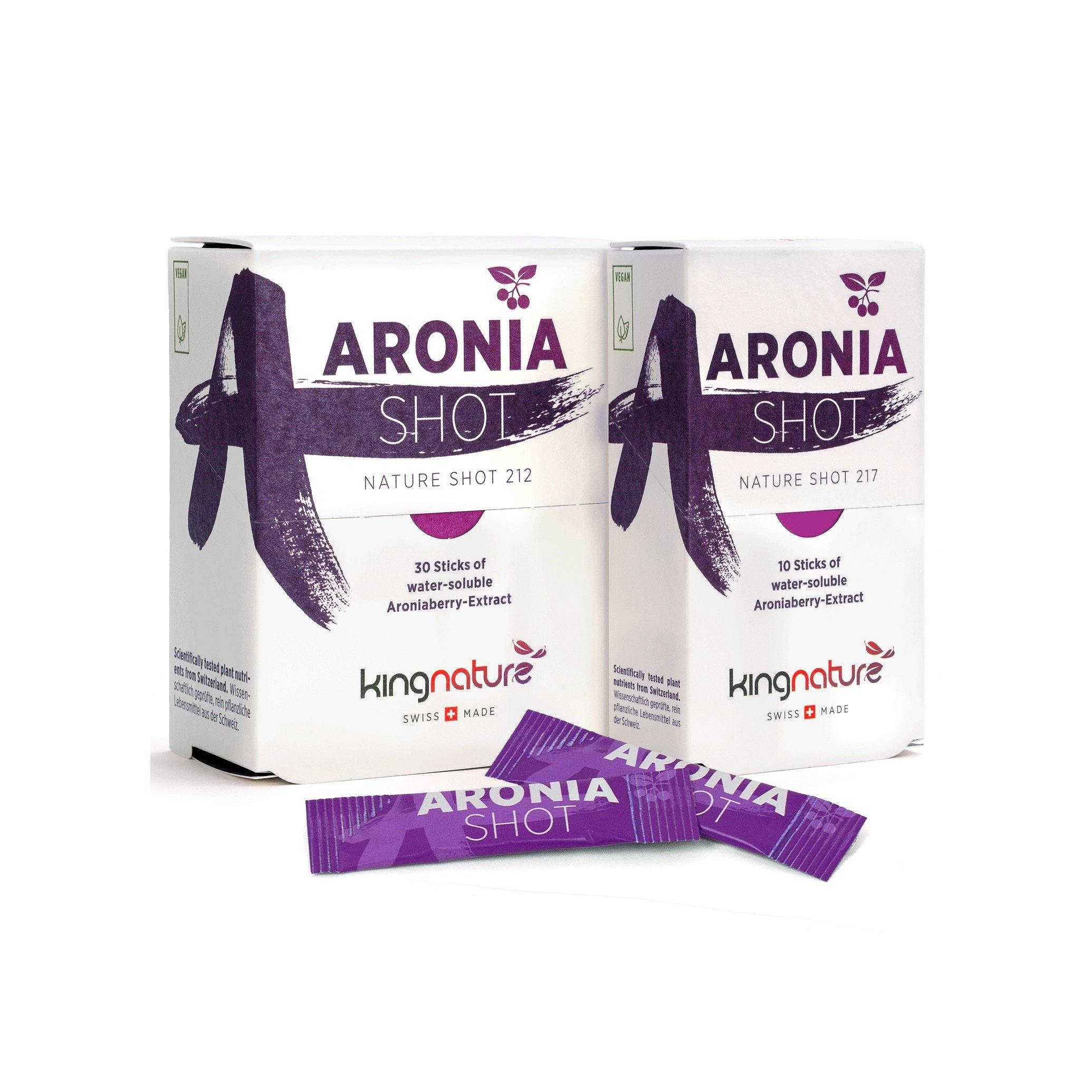 Kingnature aronia shot 30 sticks - beautylion.shop