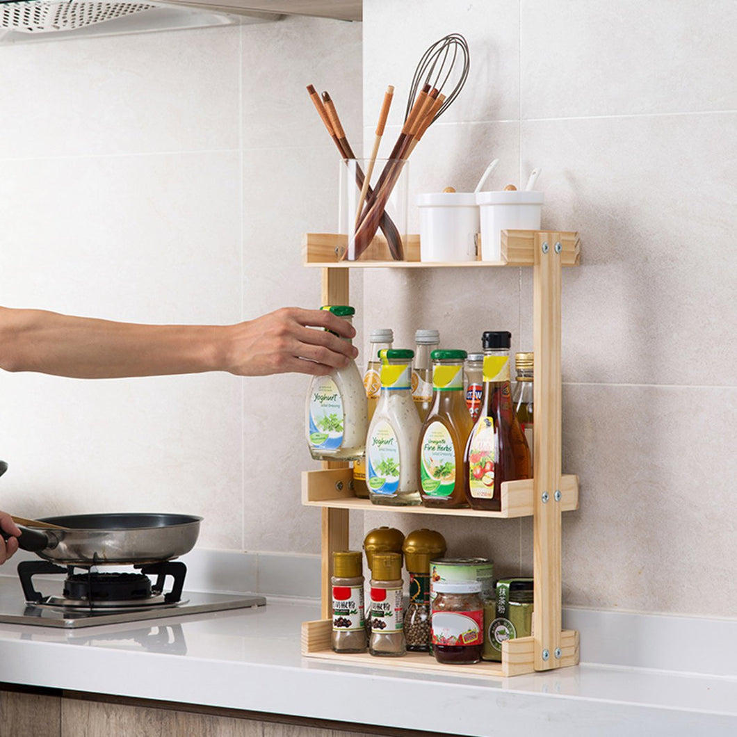 2/3 Layers Wooden Storage Rack
