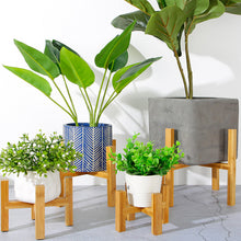 Load image into Gallery viewer, Bamboo Plant Pot Stand