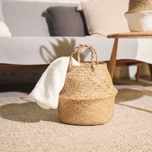Load image into Gallery viewer, Wicker Round Laundry Basket