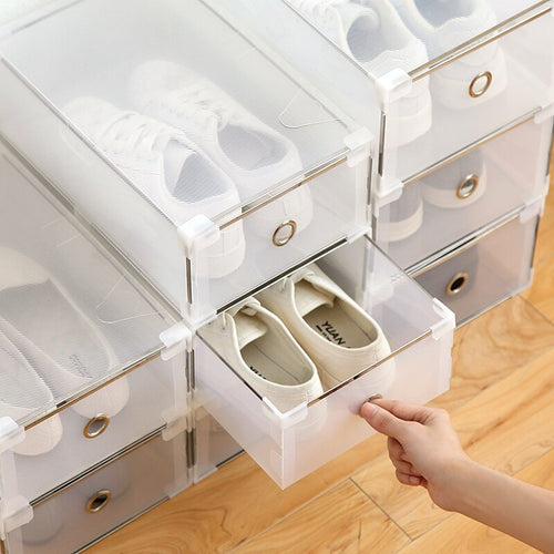 clear Stacking Storage Shoe Box