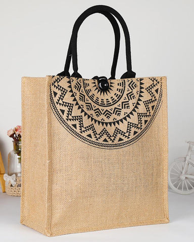 Durable Burlap Shopping One-shoulder Tote