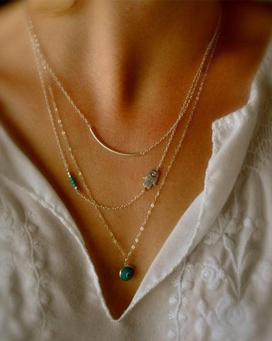 Bohemian Multilayer Necklace