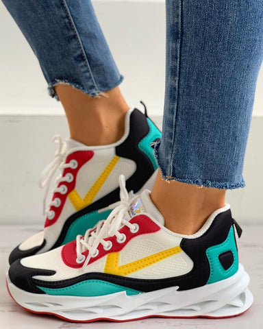 Colorblock Lace-up Casual Sneaker