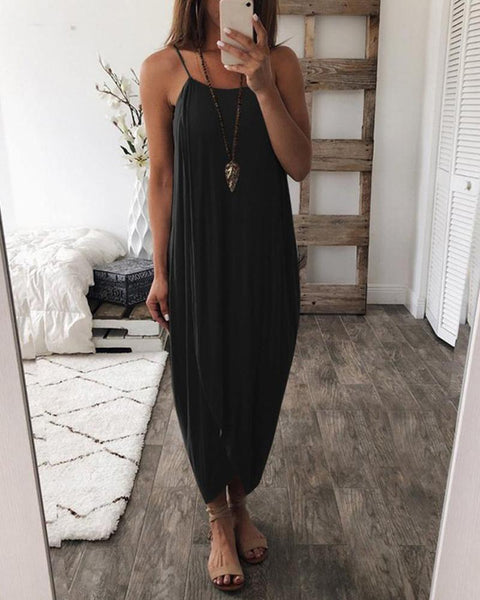 Solid Cami Maxi Dress