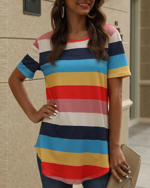 Multicolored Striped T-Shirt