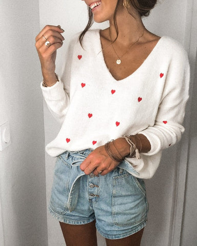 Loose Dot Long Sleeve Sweater