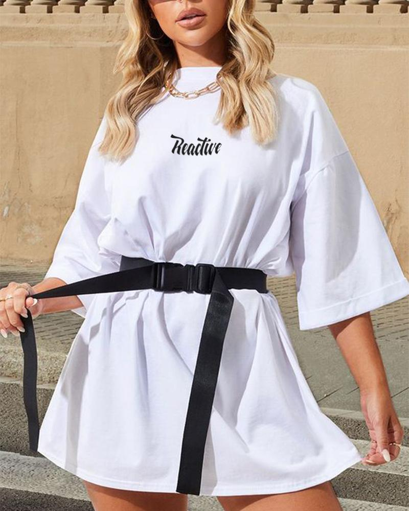 Reactive T-Shirt Tunic With Belt