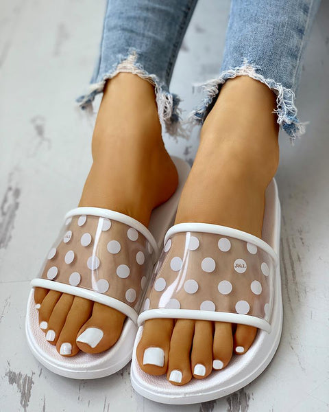 Spots  Open Toe Slippers