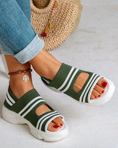 Peep Toe Sneaker Bottom Sandals