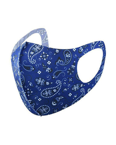 Ice Silk Paisley Print Breathable Mouth Mask