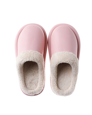 Colorblock Fluffy Patchwork Waterproof Sandals