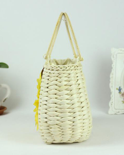 Floral Wowen Straw Bag