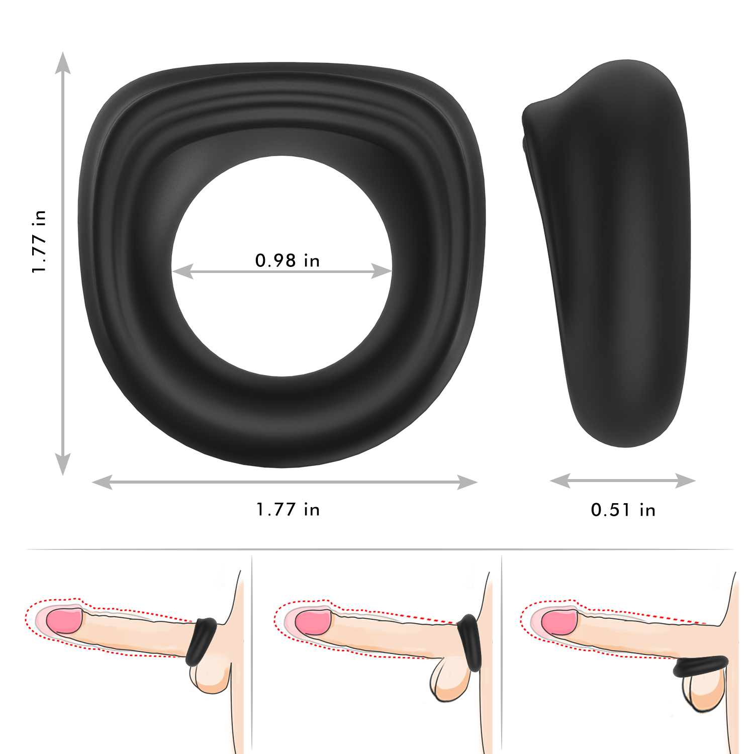 PHANXY Ultra Soft Liquid Silicone Penis Ring - PHANXY