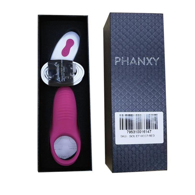 PHANXY Vibrating Penis Ring with Double Ring Adjustable Cock Ring - PHANXY
