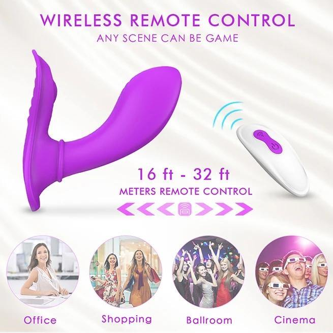 PHANXY Wearable Clitoris G-spot Vibrator Butterfly Vibrator 128