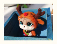 Load image into Gallery viewer, (DIY Package) Kitten Dressed as a Reindeer