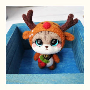(DIY Package) Kitten Dressed as a Reindeer