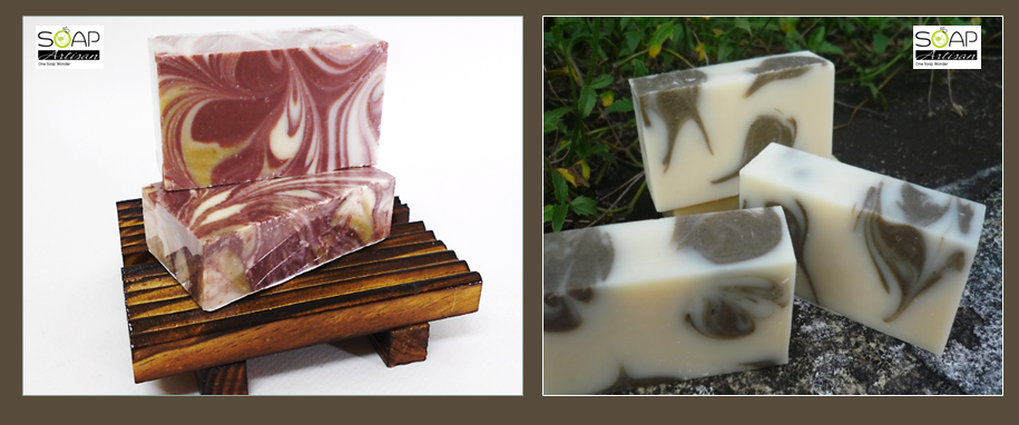 Soap Artisan | Red Clay and Green Clay Soaps