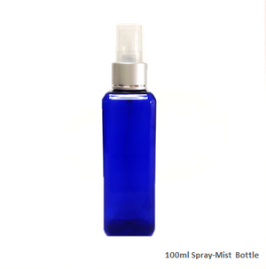 Soap Artisan | Blue Plastic Bottle W Silver Mist Cap