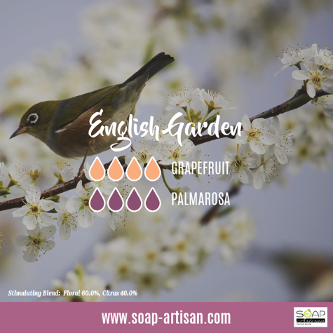 Soap Artisan | English Garden Oil Blend with Palmarosa and Grapefruit