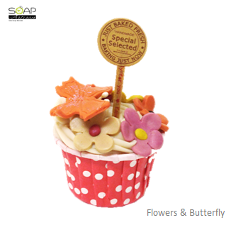Soap Artisan | Flowers & Butterfly Cupcake Soap