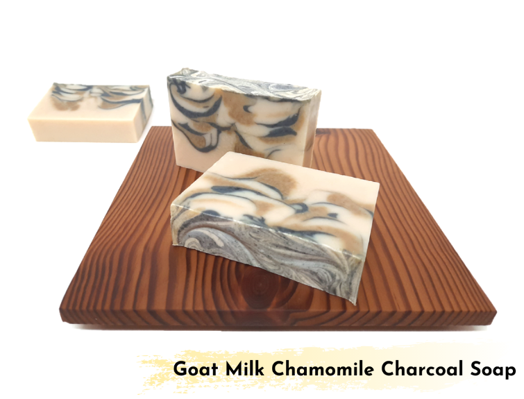 Goat Milk Chamomile Charcoal Soap 羊奶洋甘菊竹碳皂