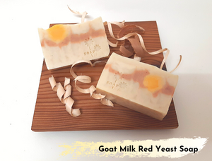 Goat Milk Soap with Red Rice Yeast 滋润红曲羊奶焕肤皂