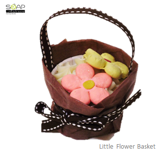Soap Artisan | Little Flower Basket Cupcake Soap