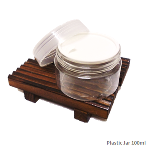 Soap Artisan | Plastic Jar Container With Transparent Cap