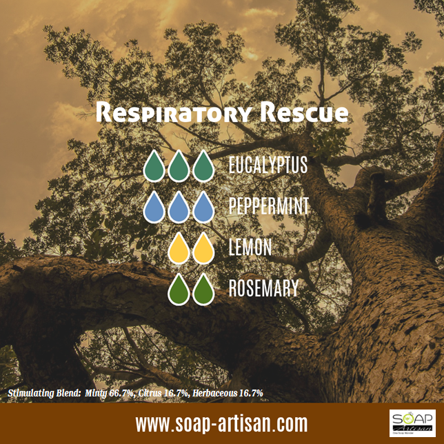 Soap Artisan | Respiratory Rescue Essential Oil Blend with Eucalyptus