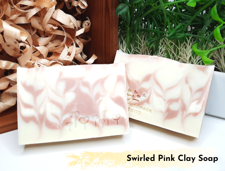 Soap Artisan | Swirled PInk Clay Soap