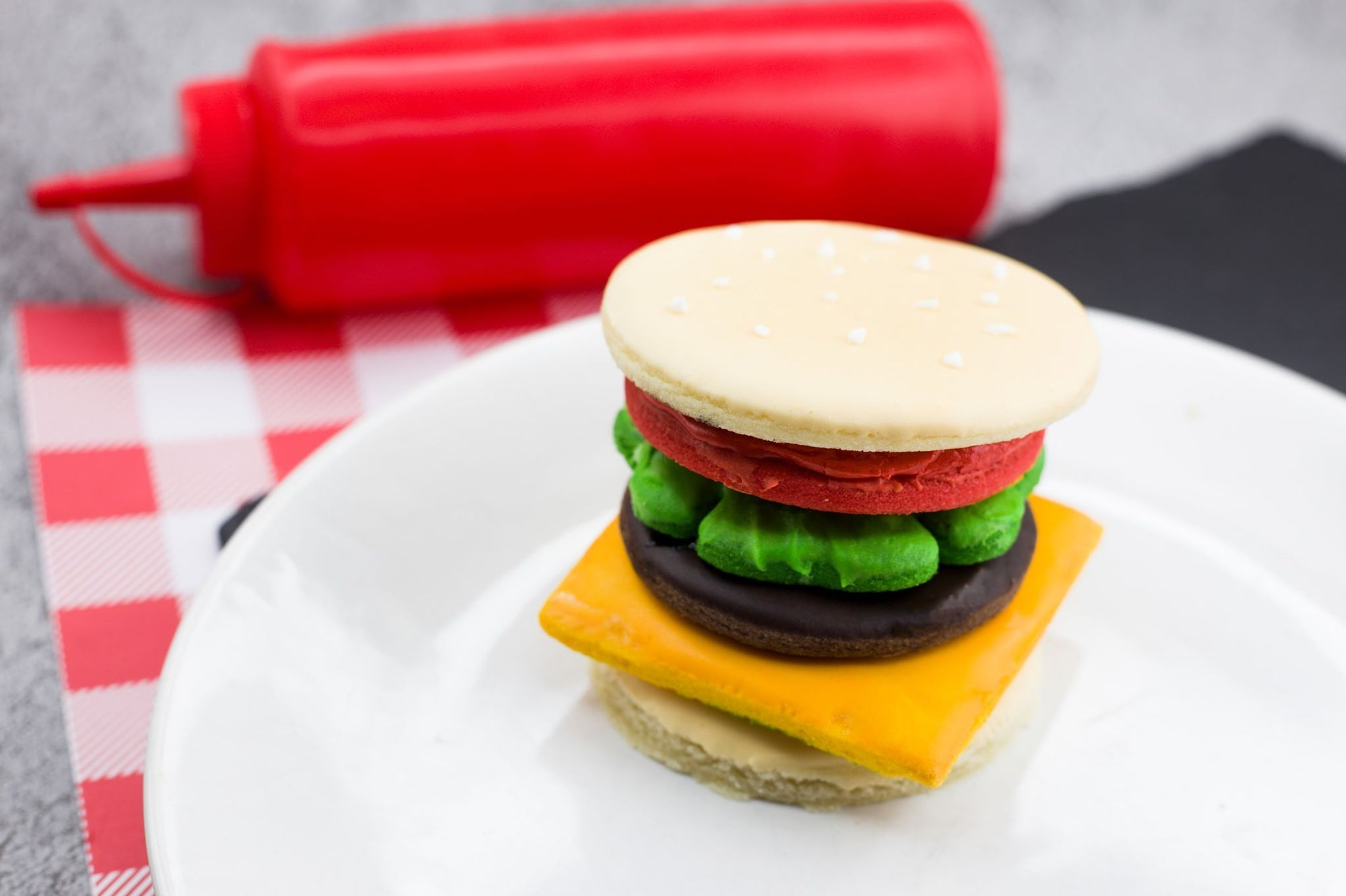 Hamburger Deconstructed Ingredients Set - Dolce3D