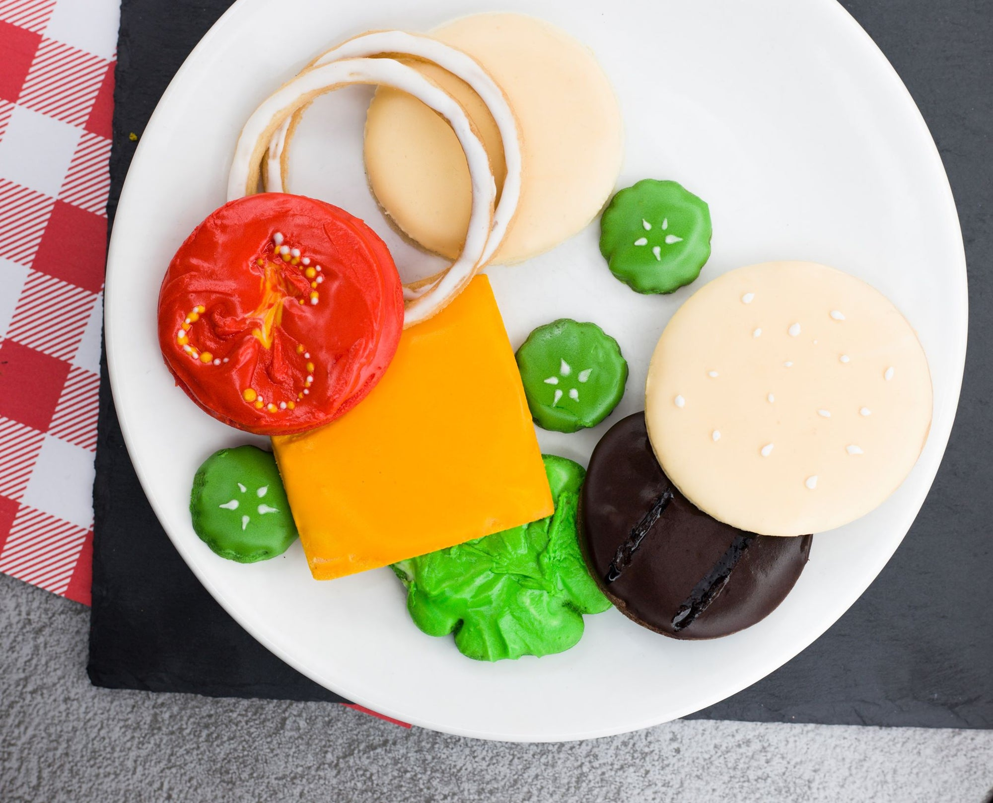 Hamburger Deconstructed Ingredients Set - Dolce3D Cookie Cutters
