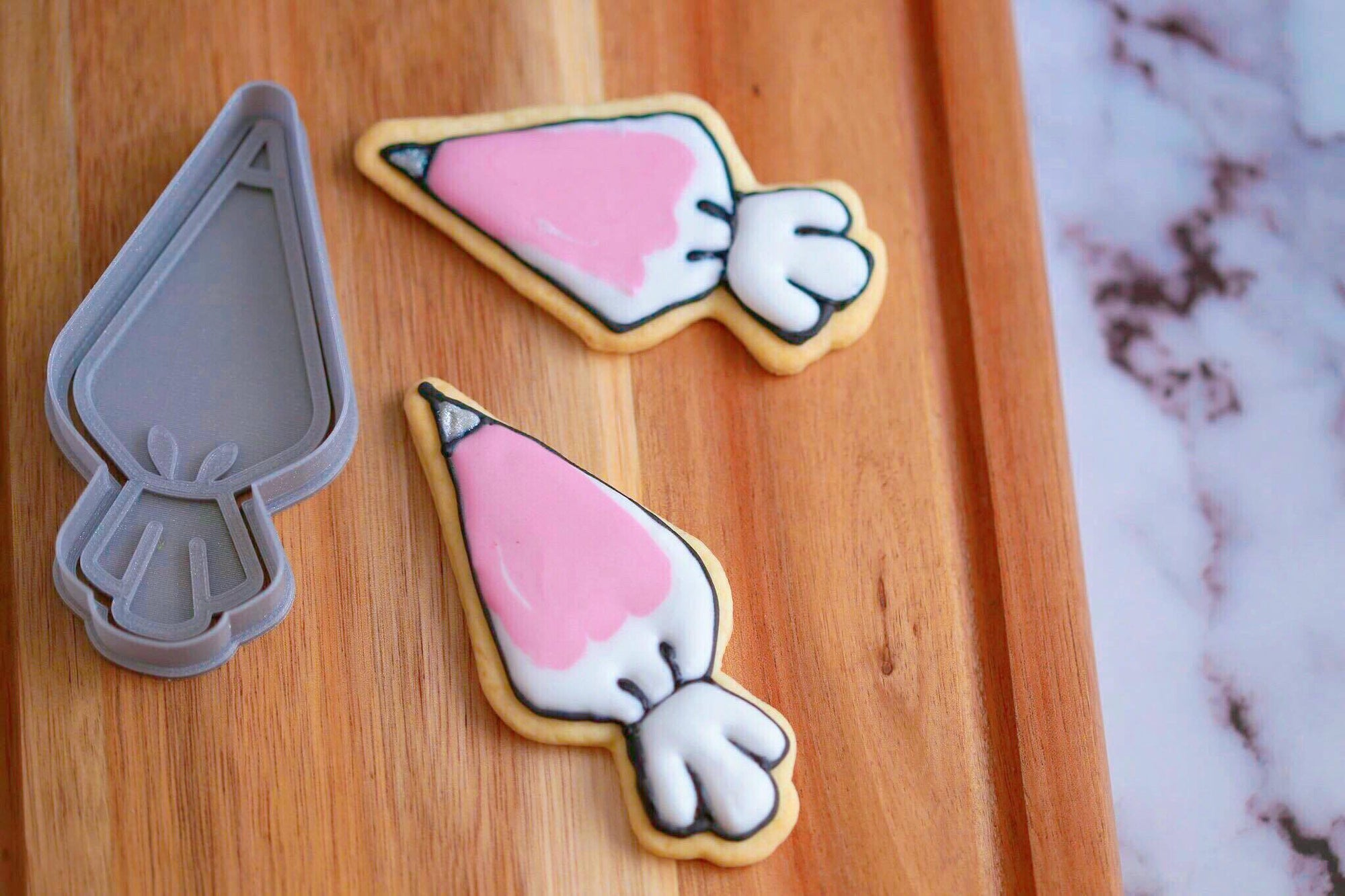 Piping Bag Cookie Cutter - Dolce3D