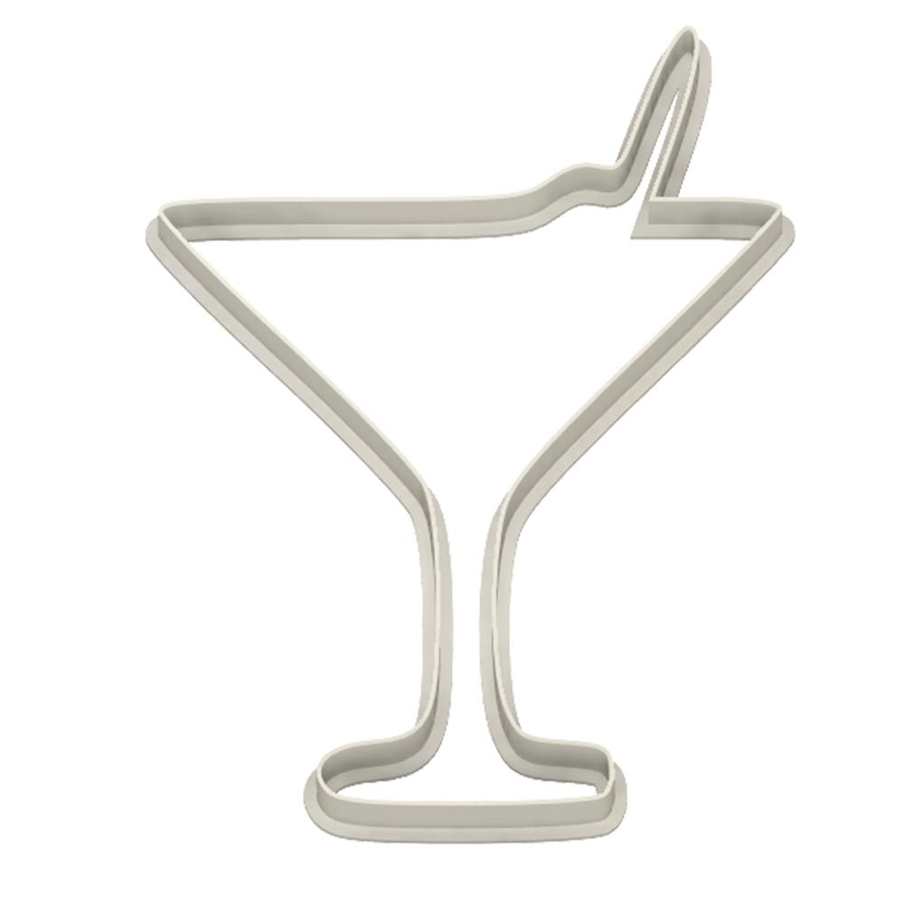 Vermouth Martini Glass Cookie Cutter - Dolce3D