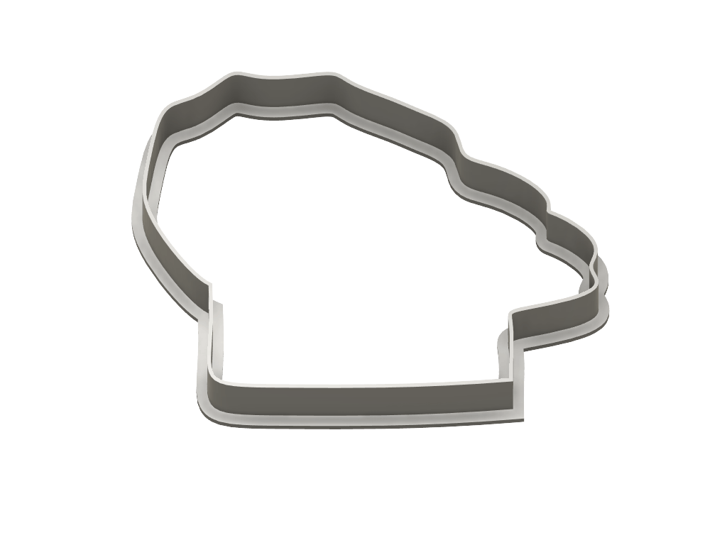 Chef Hat Cookie Cutter - Dolce3D