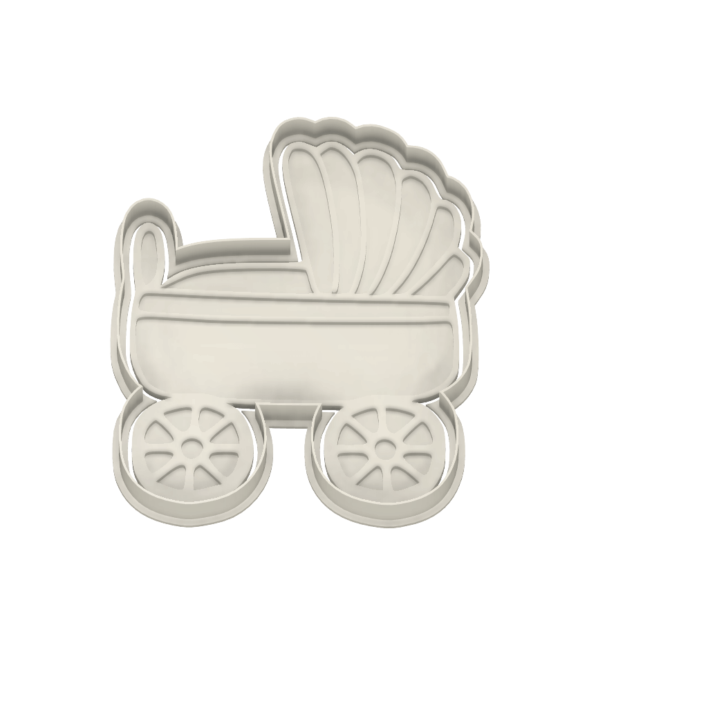 Baby Carriage Cutter and Embosser - Dolce3D