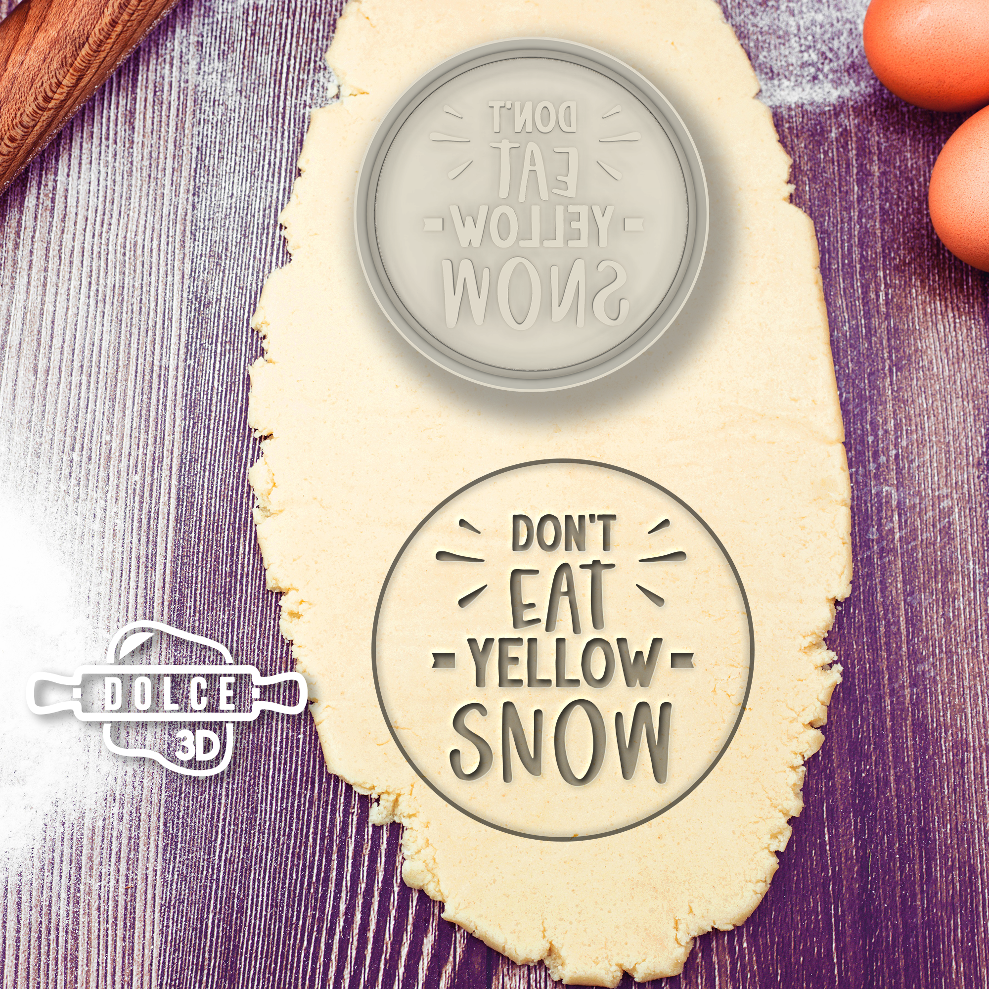 Don't Eat Yellow Snow Cookie Cutter