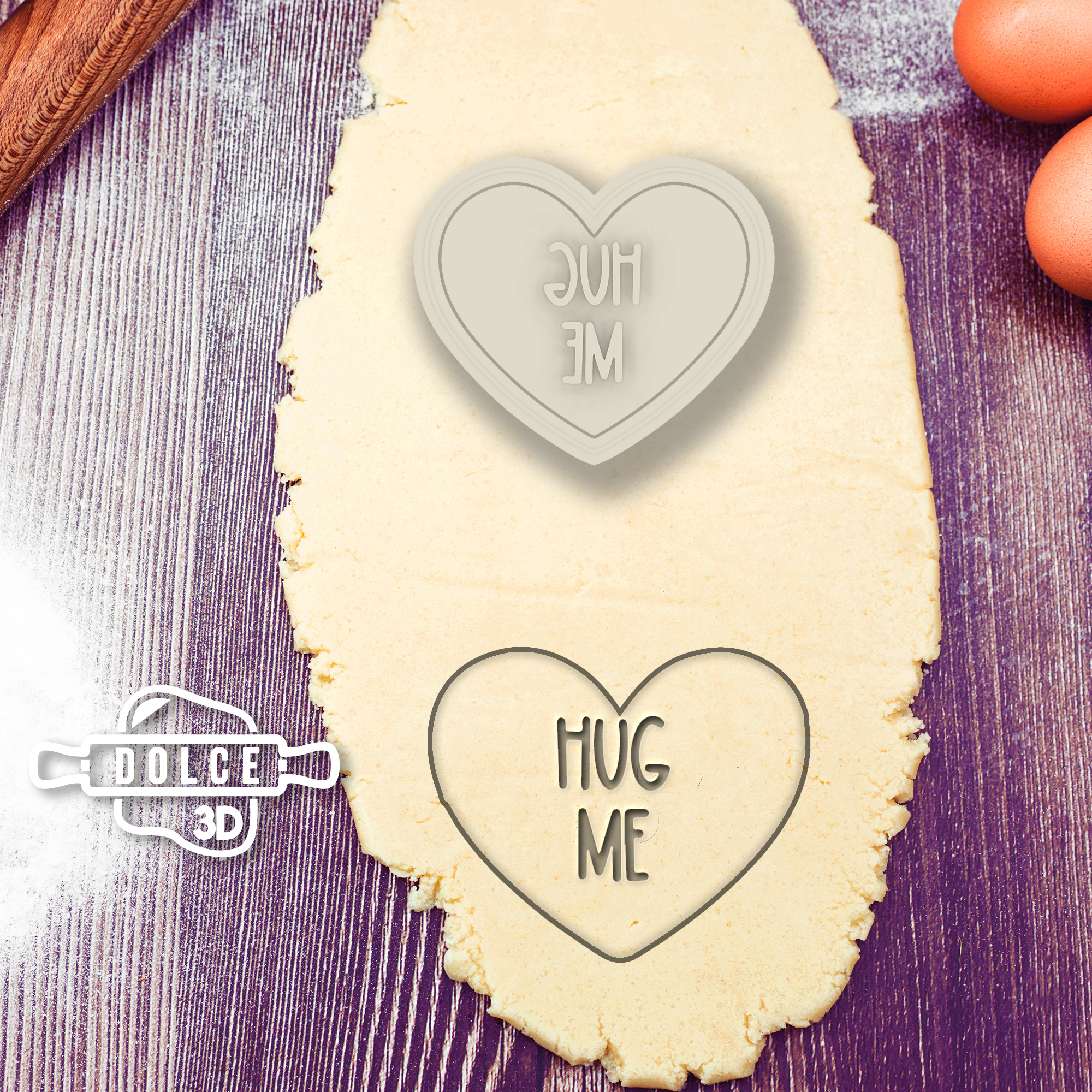 Heart Hug Me Cookie Cutter