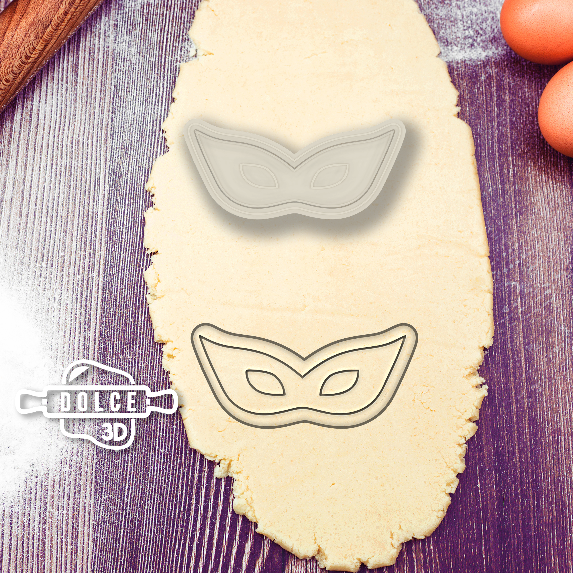 Carnival Mask Cookie Cutter #7