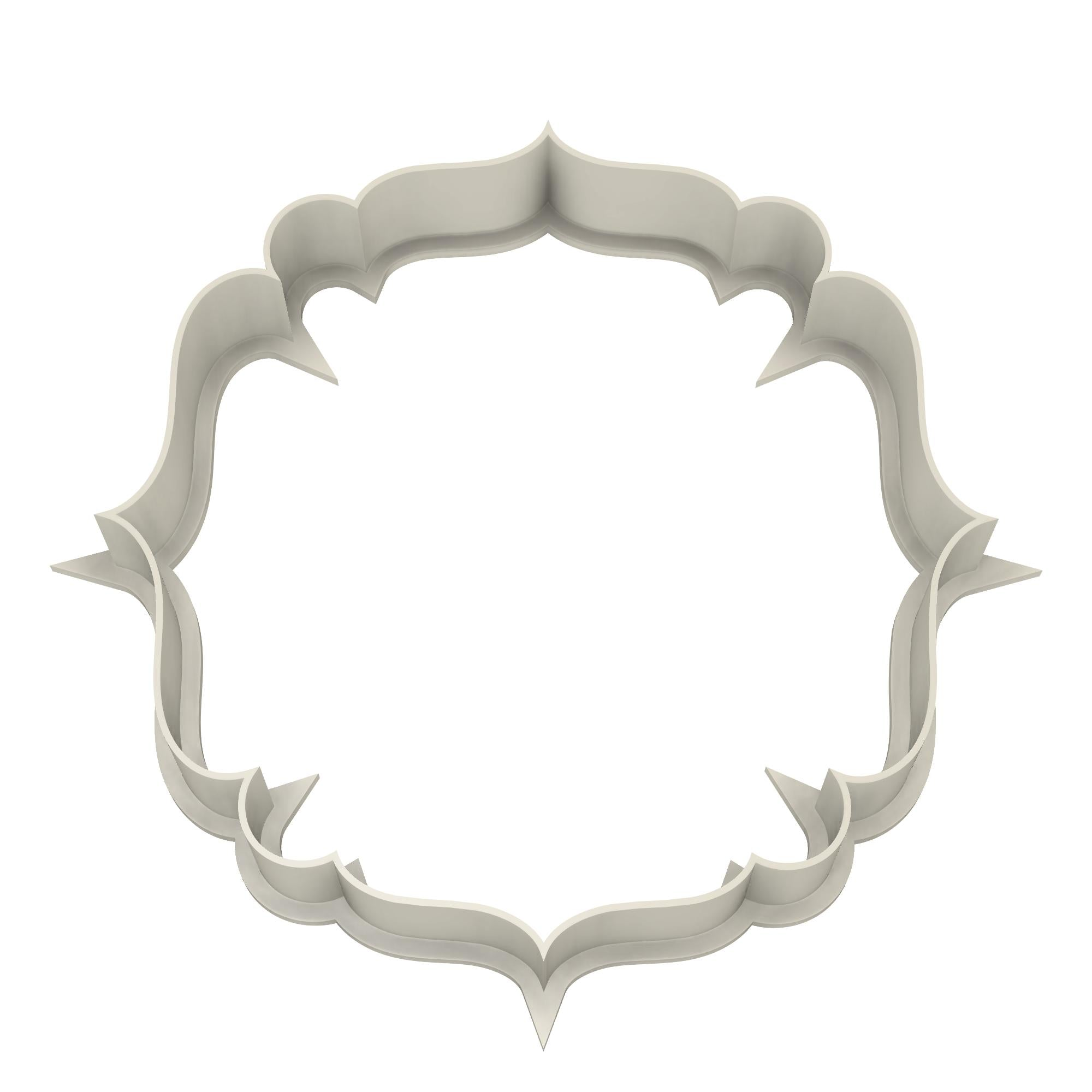Elegant Plaque #2 Cookie Cutter - Dolce3D