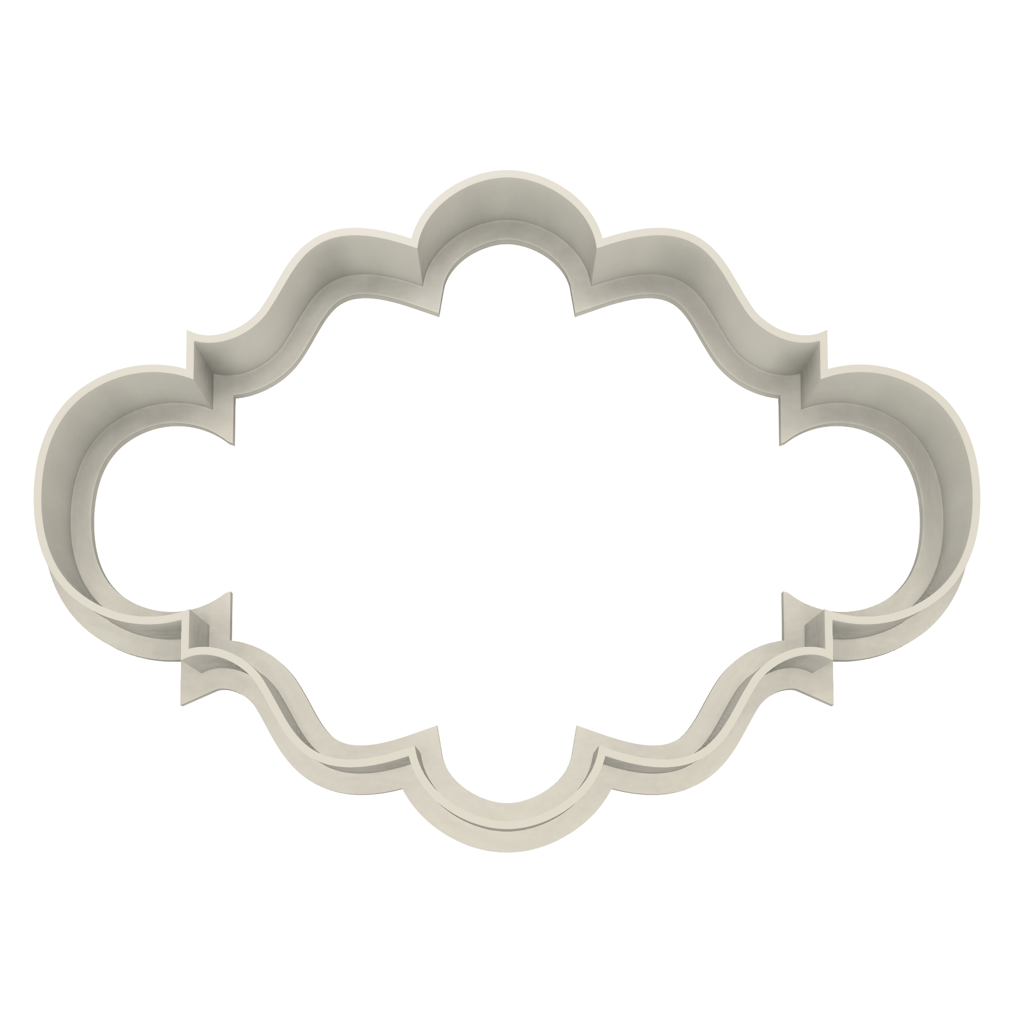 Elegant Plaque #5 Cookie Cutter - Dolce3D Cookie Cutters