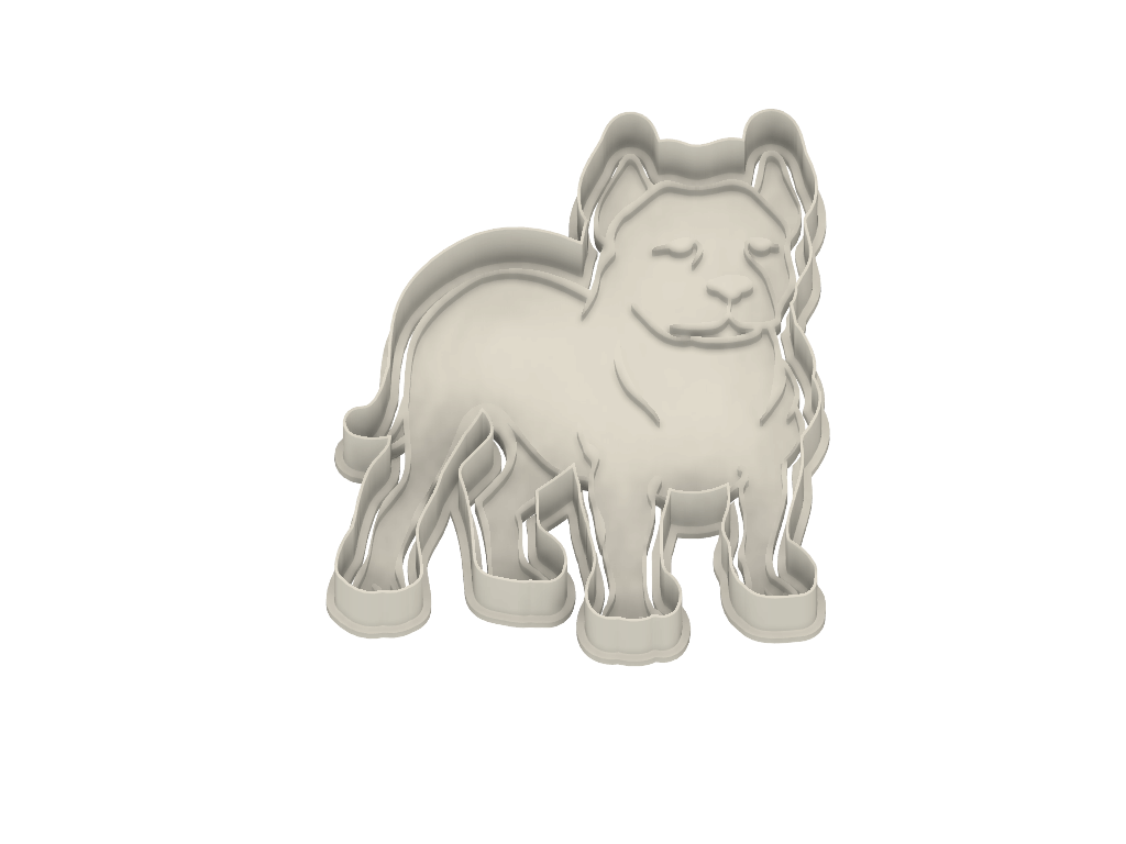 American Pitbull Terrier Dog Cookie Cutter - Dolce3D
