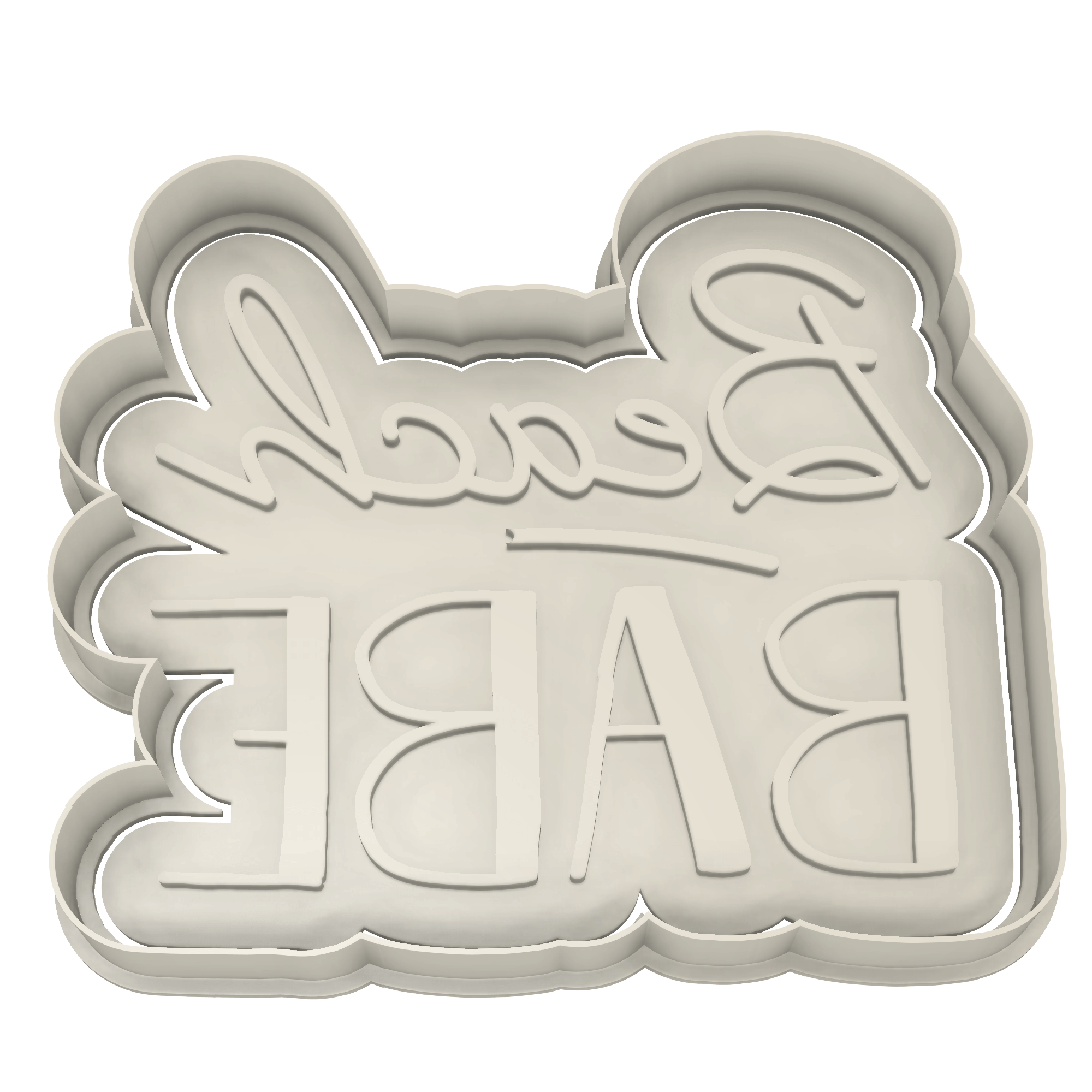 Beach Babe Cookie Cutter - Dolce3D Cookie Cutters