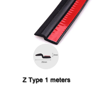 Car-styling 1 meter Car Door Seal Auto Strip Big D Small D Z P Type Waterproof Trim Sound Insulation Weatherstrip Sealing Strips