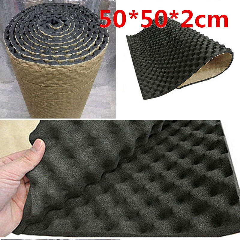 50*50cm Car Insulation Acoustic Foam Mat Accessory Sound Auto Acoustic Egg Foam Sound Proofing Damping Deadening Mat