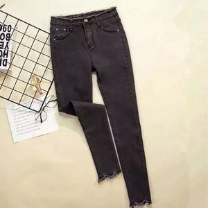 2020 Jeans Female Denim Pants Black Color Womens Jeans Donna Stretch Bottoms Feminino Skinny Pants for Women Trousers
