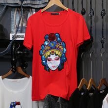 Carica l'immagine nel visualizzatore di Gallery, 2020 summer Donna New Fashion M-3XL Plus Size T Shirt Women pointed star Sequin Short Sleeve Tees Casual Cotton T-shirt C1079