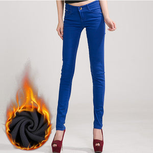 Jeans Female Denim Pants Candy Color  Pants For Women Trousers 2019 Tataria Womens Jeans Donna Stretch Bottoms Feminino Skinny